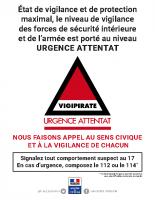 Affiche-vigipirate-niveau 3 Urgence attentat